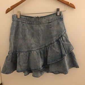 Pacsun Ruffled denim skirt